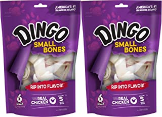 Dingo Bone Small 6Pack Value Bag, 9Ounce (Pack of 2)