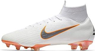 Nike Men`s Superfly 6 Elite FG Firm-Ground Football Boot (12 M US) White/Grey