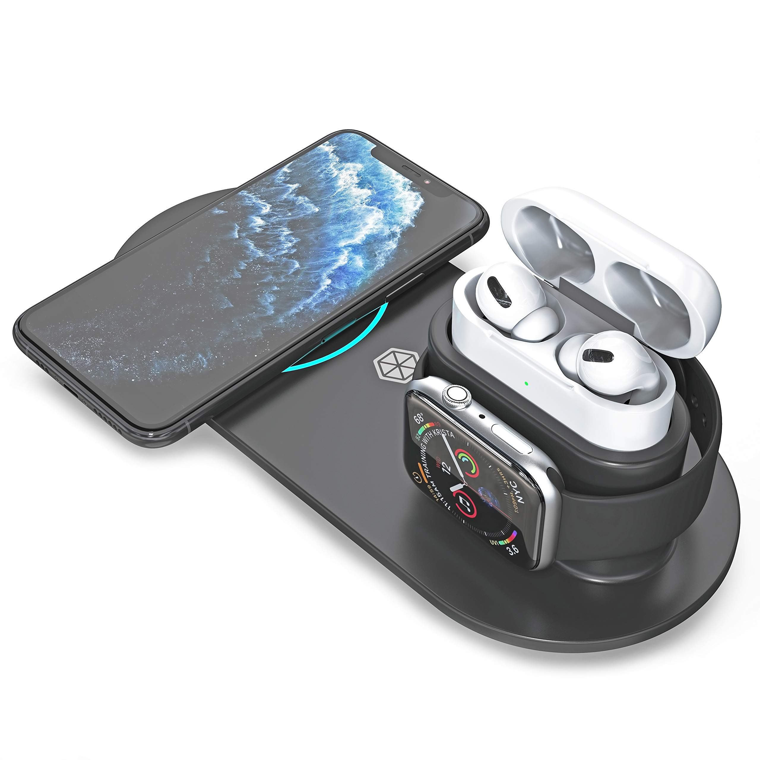 Amazon Com Limeflex 3 In 1 Wireless Charging Station Multi Charger Pad Compatible With Apple Watch Airpods Iphone Samsung Galaxy Note Qi Devices Fast Charging Dock With Qc 3 0 Adapter,2 Bedroom Small Two Bedroom Apartment Layout