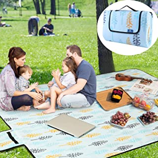 Sparkleday Large Outdoor Picnic Blanket Waterproof Camping Handy Mat Easy Cleaning Traveling Blanket for Beach 75×59 inch …