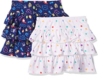 Amazon Brand - Spotted Zebra Girls Disney Star Wars Marvel Frozen Princess Knit Ruffle Scooter Skirts