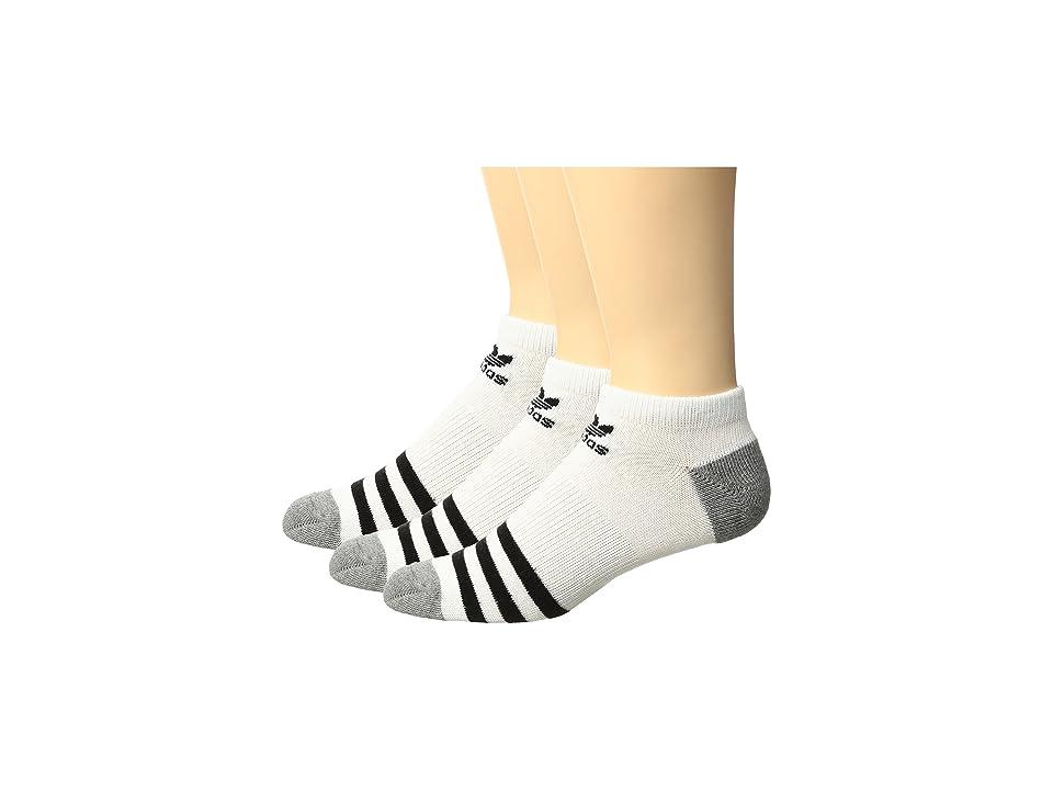 adidas Kids Originals Roller No Show Sock 3-Pack (Little Kid/Big Kid) (White/Black -White/Black/White/Black) Kids Shoes
