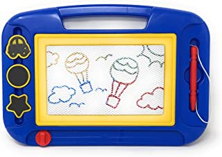 Kidsthrill Magnetic Drawing Board for Kids   Color Magna Doodle Pad Toys   Sketch and Erasable Writing Board for Toddlers & Kids   Stamps and Stylus   Travel Size