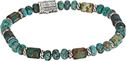 Classic Chain Bead Bracelet with Mixed Turquoise