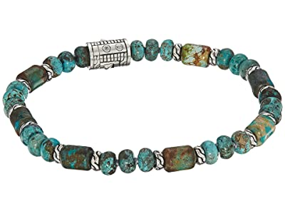 John Hardy Classic Chain Bead Bracelet with Mixed Turquoise (Silver) Bracelet