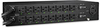 CyberPower PDU30SWT17ATNET Switched ATS PDU, 100-120V/20A, 17 Outlets, 2U Rackmount