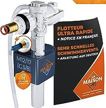 Maison onsab drijver, wc-spoeling, 2 x sneller, stil [filter + handleiding] 1 miljoen activeringsmechanisme, premium kwali...
