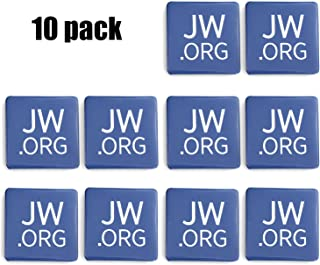 JW.ORG Buttons Jehovah's Witnesses Button Perfect Present for Jw.org (Square-10 Pack)