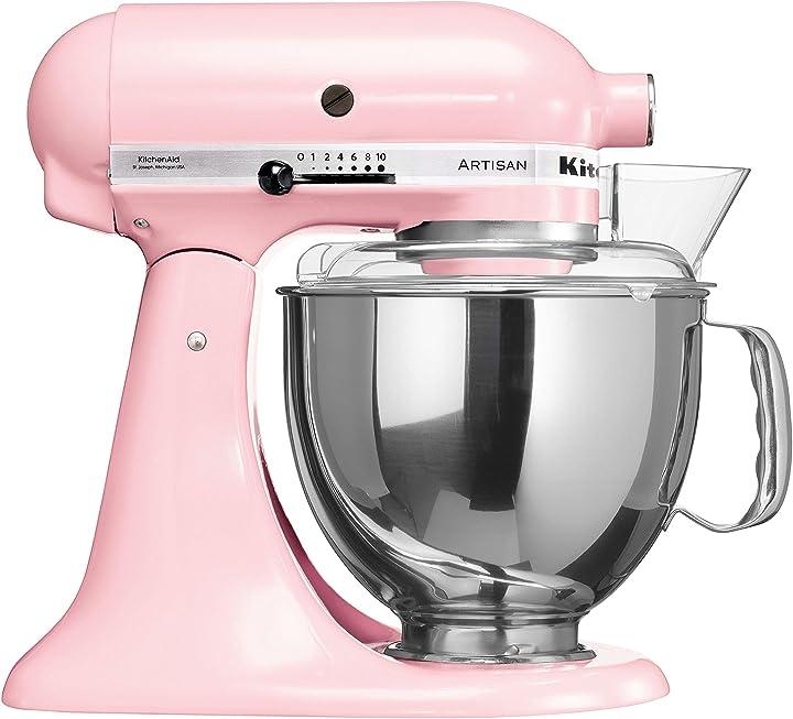 Robot da cucina, 4,8 l, colore: rosa seta kitchenaid artisan 5KSM175PSESP