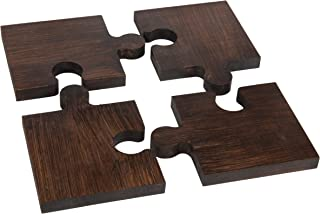 The Mammoth Design Puzzle Trivets for Hot Dishes, Perfect Gift, Decorative Wooden Trivet Mat Hot Pot Holders Pads for Rustic Home Kitchen Counter or Dining Table