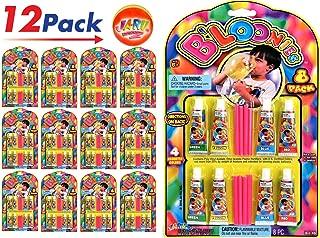 JA-RU B'loonies Plastic Balloon Variety 8 (96 Tubes in 12 Packs) Great Original Bloonies Bubble Making. Plus 1 Bouncy Ball 774-12p