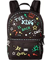 Dolce & Gabbana Kids - Graffiti Nylon Backpack