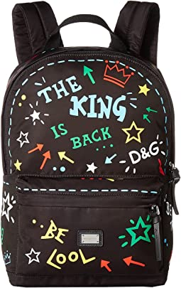 Dolce & Gabbana Kids Graffiti Nylon Backpack