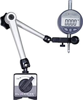 Clockwise Tools DIBR-0055 Electronic Digital Dial Indicator Gage Gauge and Magnetic Base..