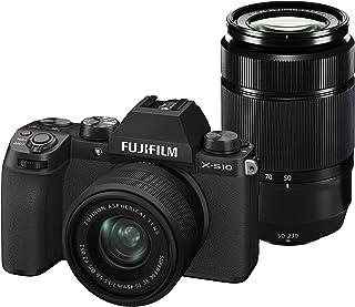 FUJIFILM ミラーレスデジタルカメラ X-S10 Wズームレンズキット F X-S10LK-1545/50230 ブラック