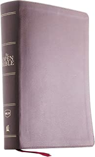 The NKJV, Open Bible, Leathersoft, Brown, Red Letter, Comfort Print: Complete Reference System