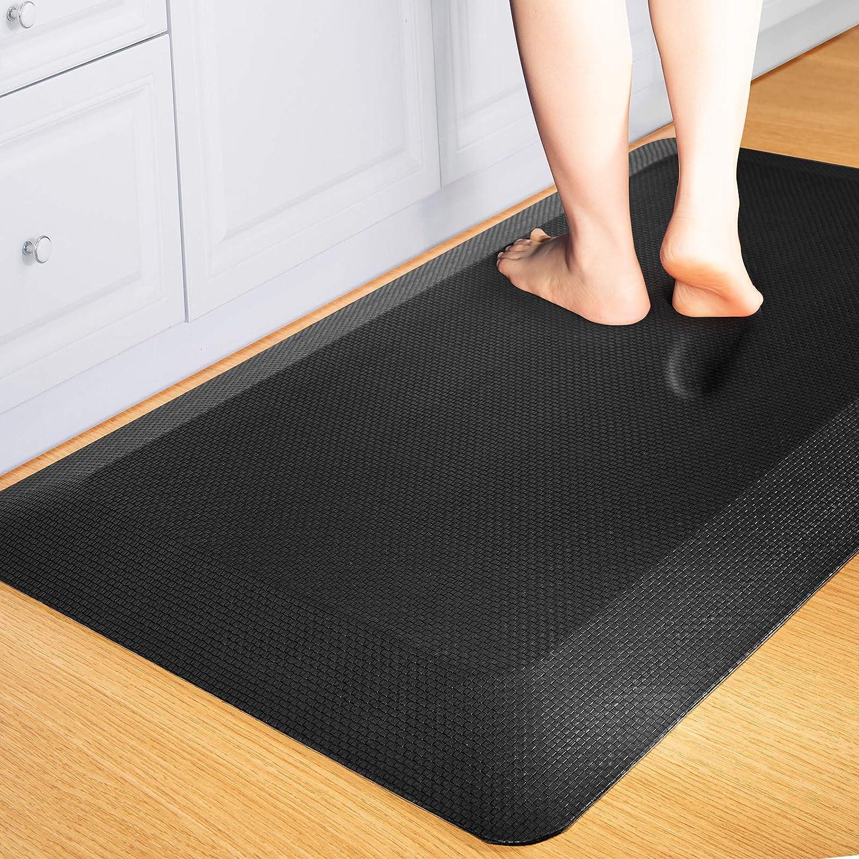 Anti Fatigue Mat Floor Kitchen Mat, FEATOL Standing Desk Mat Foam Cushioned  Anti Fatigue Mats Comfort Standing Pad 9/9 Inch Thick 9