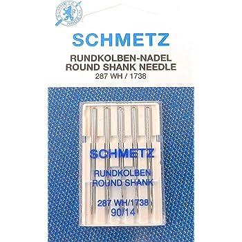 Schetz - Juego de 5 Agujas para máquina de Coser (287 WH/1738 ...