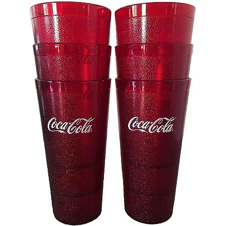 12pc Lot New Coca Cola 26 oz San Plastic Tumblers Coke Cups 1126-JA