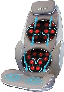 HoMedics Shiatsu Max 背肩膀按摩器 - 豪华按摩椅,放松肩膀,背部和上腿肌肉,舒缓,动感应,*舒缓 + 其他 - 灰色