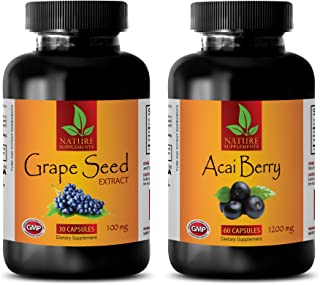 Energy Formula - ACAI Berry - Grape Seed Extract - Grape Seed Extract Powder - (2 Bottles Combo)