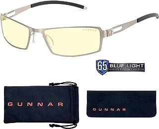 GUNNAR Gaming and Computer Eyewear/Sheadog, Amber Tint - Patented Lens, Reduce Digital Eye Strain, Block 65% of Harmful Blue Light