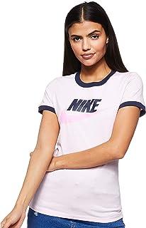 Nike Women's Futura Ringe T-Shirt, Multicolour (Pink Foam/Obsidian), X-Small