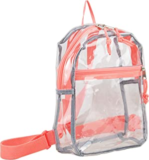 Eastsport 100% Transparent Clear MINI Backpack (10.5 by 8 by 3 Inches) with
