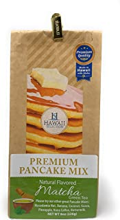 Hawaii Selection Premium Breakfast Pancake Mix, Matcha - 8 ounce bag (226g) - Quick & Easy Directions, Just Add Water, Cook for Only 1 to 2 minutes, For All Matcha Lovers