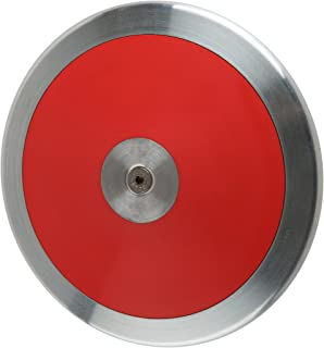 New - Top Rated NFHS 1.6 Kilo High School Competition Discus (Lo Spin Red) Backed by a 3 Year Warranty