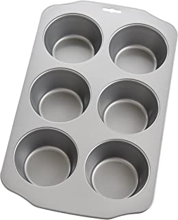 Mrs. Anderson's Baking 43700 6-Cup Jumbo Muffin Pan, Carbon Steel with Quick-Release Non-Stick Coating