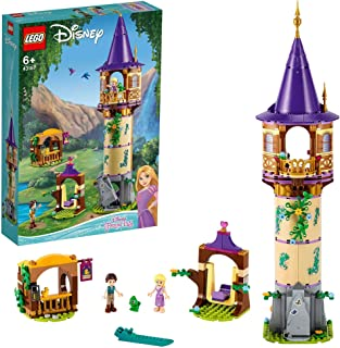 LEGO 43187 Disney Princess Rapunzel's Tower Castle Playset with 2 Mini Dolls from Tangled Movie