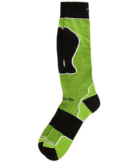 calcetines sobre la pantorrilla lana Merino Vermont Darn Tough acolchada verde q6wBW8