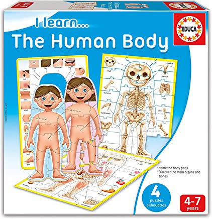 Educa I Learn… The Human Body 4 Silhouettes Puzzles Learning Game - (4 - 7 Years)