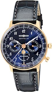 [ツェッペリン]ZEPPELIN 腕時計 Hindenburg ネイビー文字盤 7039-3 メンズ 【並行輸入品】