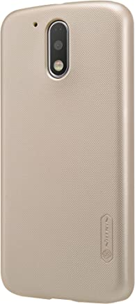 MOTO G4 Plus Nillkin Super Frosted Shield Back Case with LCD Protector [Gold Color]