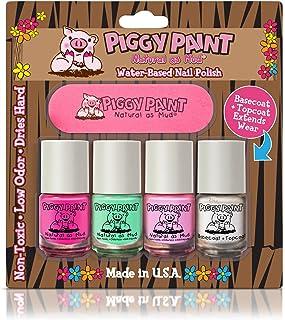 Piggy Paint no tóxico uñas Niñas – seguro, sin productos químicos Piggy pintura 4 Pack