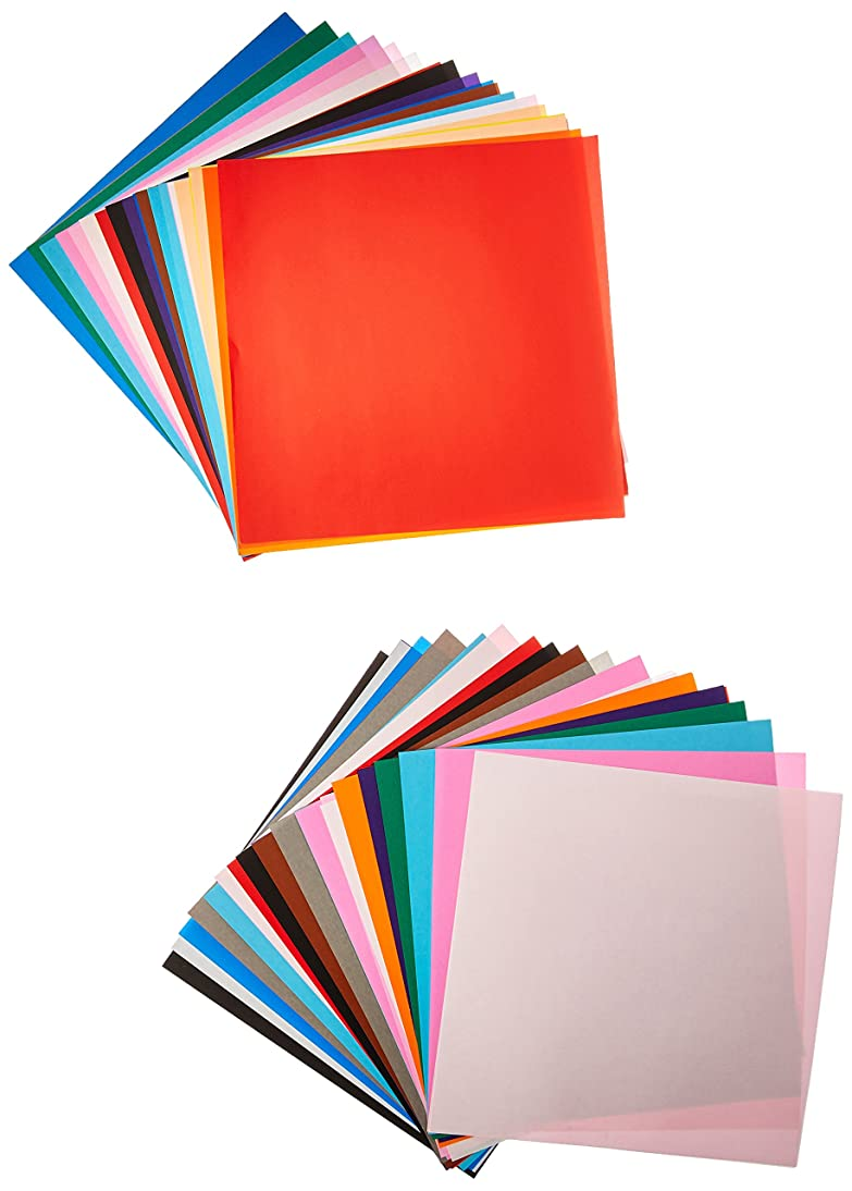 Yasutomo Fold EMS Light-Weight Square Origami Paper, 9-3/4 X 9-3/4 in, Assorted Solid Color, Pack of 100