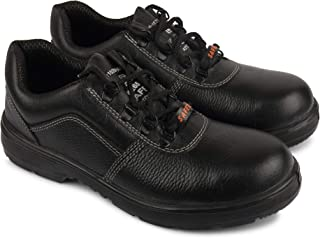Aktion Safety Genuine Leather Shoes SA-202 - Size 6, Black