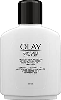 Olay Complete Daily Moisturizing Lotion with Sunscreen Broad Spectrum SPF 15, Sensitive, 120 ml