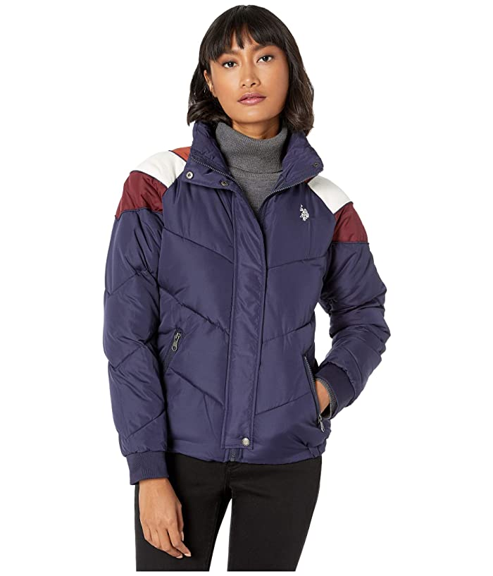 U.S. POLO ASSN. Puffer Jacket with Corduroy