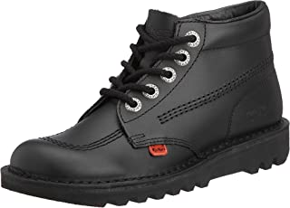Kickers Kick Hi Y Black Patent Youth Boots