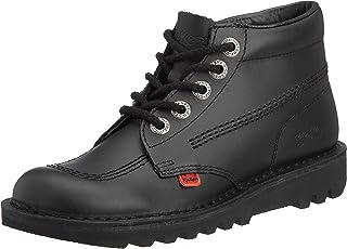 Kickers Kick Hi Y Black Patent Youth Boots