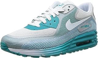 Nike Women's Wmns Air Max Lunar90 C3.0, LT BS GREY/WHITE-MTLLC SILVER-TURBO GREEN