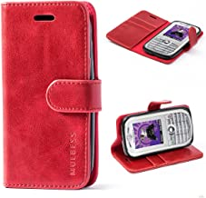 Mulbess Funda Motorola Moto E 2nd [Libro Caso Cubierta] [Vintage de Billetera Cuero de la PU] con Tapa Magnética Carcasa para Motorola Moto E 2 Gen Case, Vino Rojo