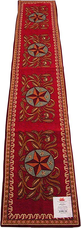 Western Star Jacquard Table Runner 13x72 Inches RaaKah