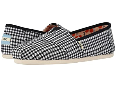 TOMS Alpargata (Black Gingham Stripe) Women