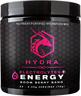 SIX Nutrition Hydra Energy + Electrolytes Drink Mix, Boom Berry Bang, 30 Servings