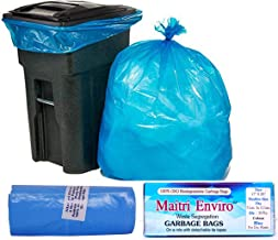 Maitri OXO Biodegradable Garbage Bags Roll (Medium) Size 17 inch x 20 inch 12 Rolls (360 Bags) (Blue Colour)