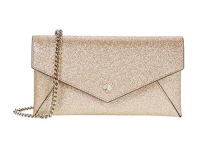 Kate Spade New York Burgess Court Chain Clutch (Pale Gold) Handbags